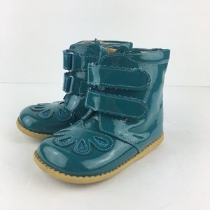 Livie & Luca Teal Petal Boots Size 8